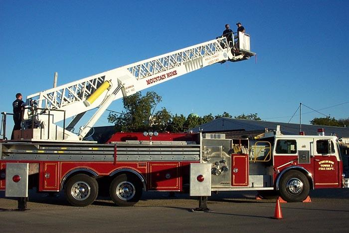fire engine sideview during marchant training