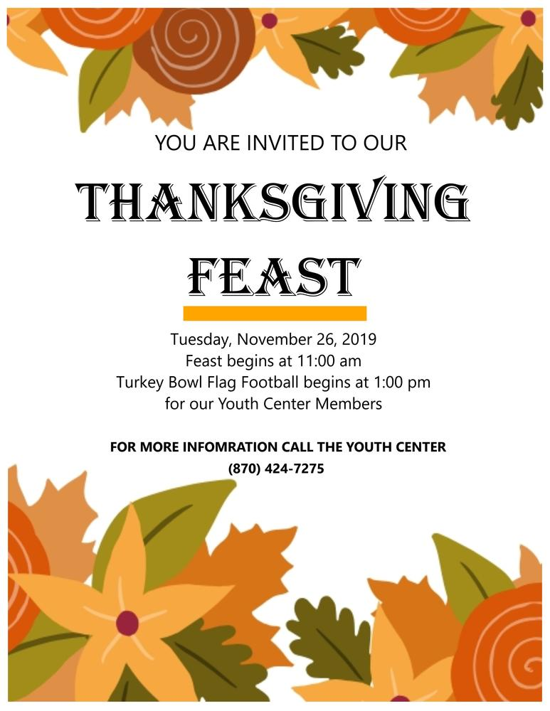 Thanksgiving Feast Flyer  2019