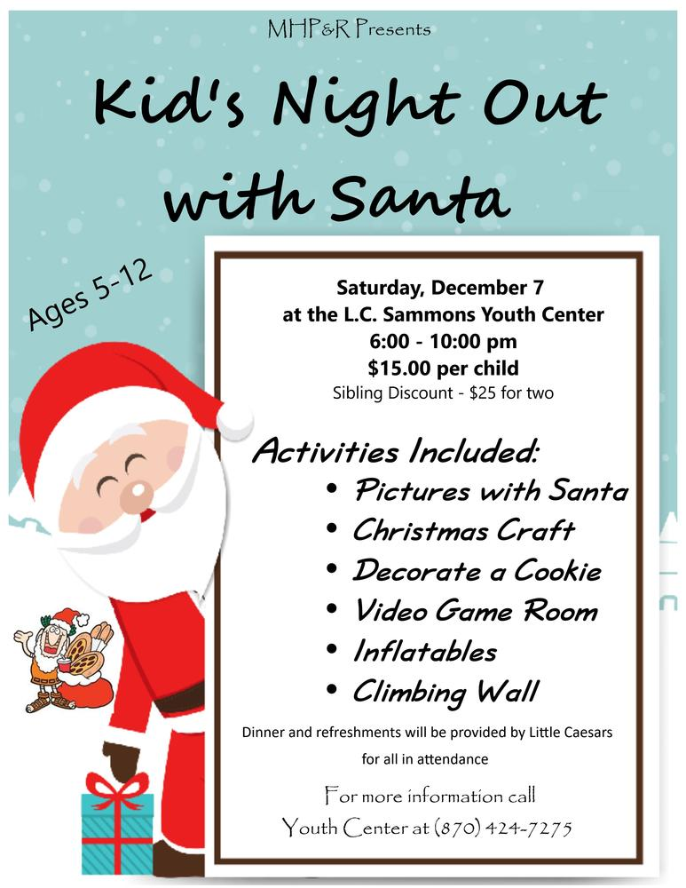 2019 Kid's Night Out w/Santa Flyer